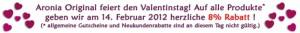 Valentins Tag bei Aronia Original