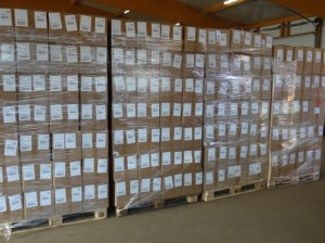 Versandkartons Aroniapflanzen