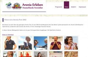 Fotos Aronia Erleben September 2012