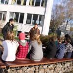 Pflanzung der Aronia-Sträucher an der Montessorischule