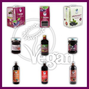 Vegane Aronia Produkte
