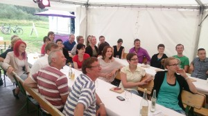 Aronia Original Erleben Fest Teambesprechung