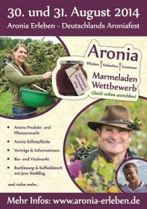Aronia Erleben Fest Flyer