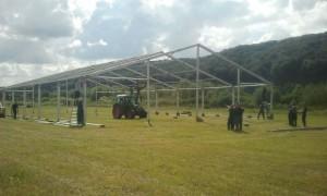 Aronia Erleben Fest wird augebaut