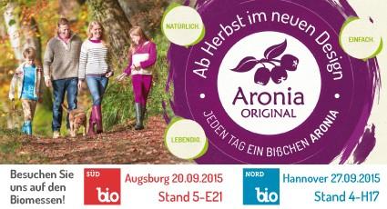 Aronia ORIGINAL auf der BioSüd und BioNord