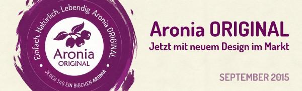 Aronia ORIGINAL hat ein neues Verpackungsdesign