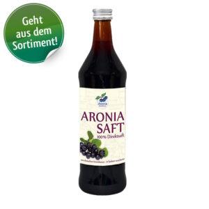 Packshot: Aroniasaf Regional aus deutschen Beeren 0,7 l Flasche