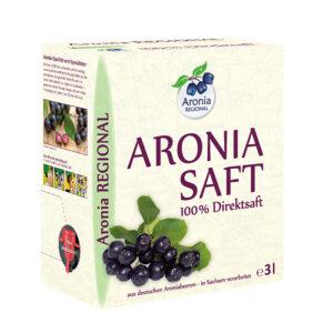 Packshot: Aroniasaf Regional aus deutschen Beeren 3l Saftpack / Bag in Box