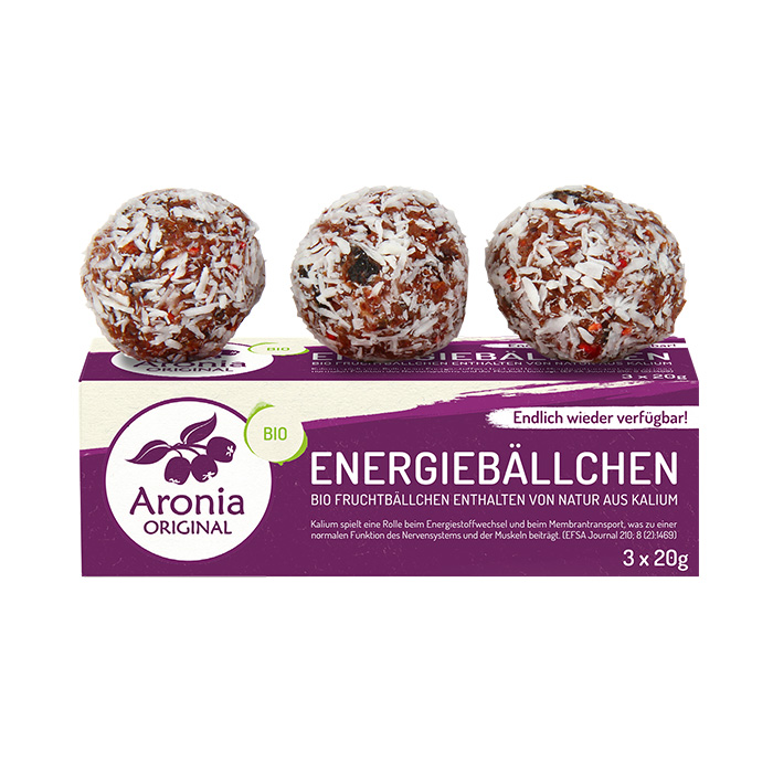 Packshot: Aronia Energiebällchen 60 g