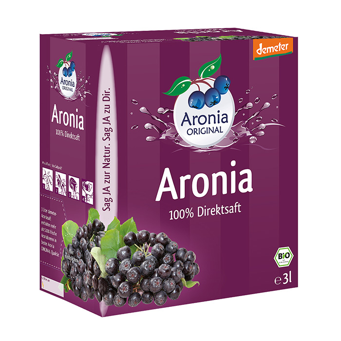 Packshot: Aronia Direktsaft demeter 3 l