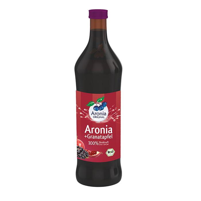 Packshot: Aronia+Granatapfel Direktsaft Bio 0,7 l