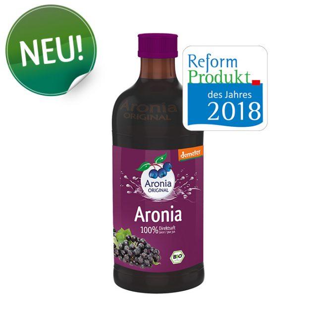 Demeter-Aronia-Direktsaft,Reformprodukt 2018, Kategorie Lebensmittel