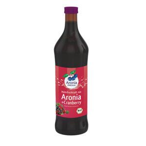 Packshot: Mehrfruchtsaft Aronia+Cranberry Direktsaft Bio 0,7 l