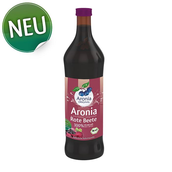 Seitenbild: Neuprodukt Aronia + Rote Beete Direktsaft