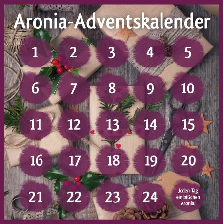 Freut Euch auf unseren lila – köstlichen Aronia ORIGINAL Adventskalender!