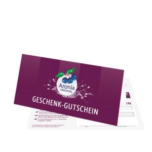 Packshot: Aronia ORIGINAL Geschenkgutscheine FHM