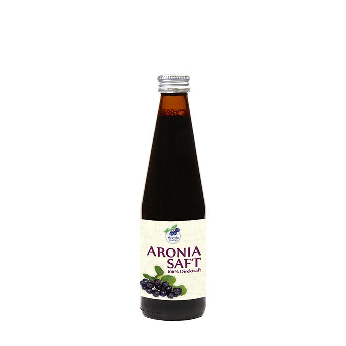 Packshot: Aroniasaf Regional aus deutschen Beeren 0,33 l Flasche