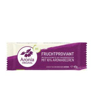 Packshot: Aronia Fruchtschnitte / Fruchtproviant 40g Riegel
