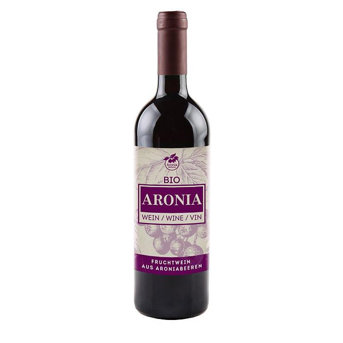 Packshot: Bio Aroniawein 0,7 Liter Flasche