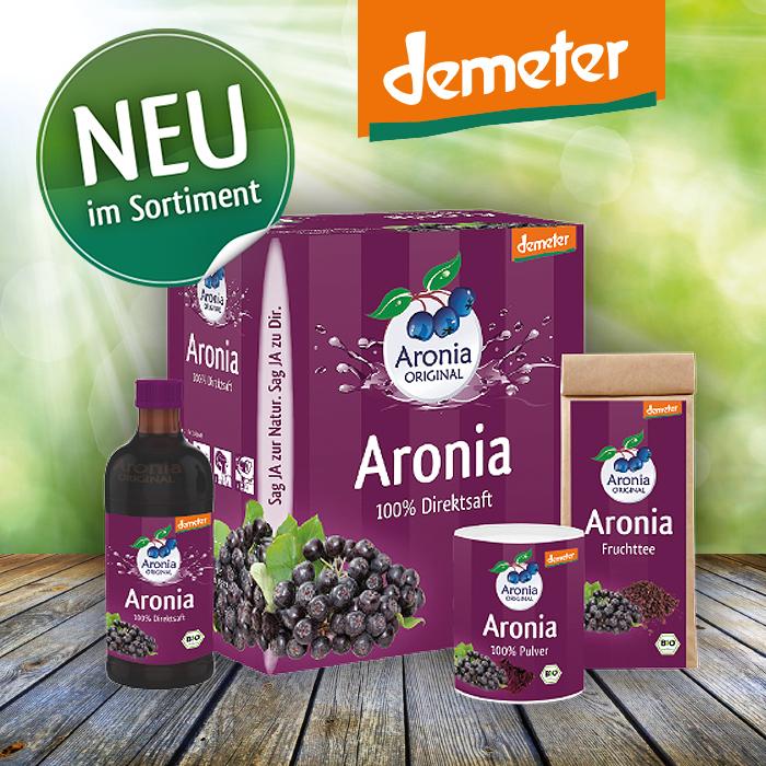 Wir präsentieren unsere erste Aronia ORIGINAL Demeter-Kollektion