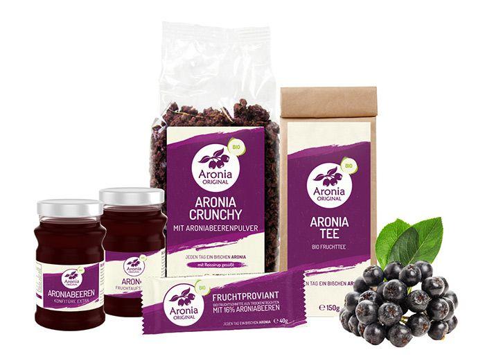 Neue Verpackungen für Snacks und Aufstriche von Aronia ORIGINAL