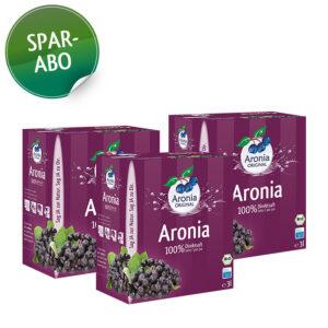 Packshot: Bio Aroniasaft im Abo (36 Liter)