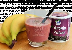 Rezeptbild: Veganer Aronia-Smoothie mit Chia & Banane