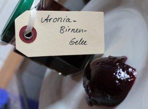 Rezeptbild: Aronia-Birnen-Gelee