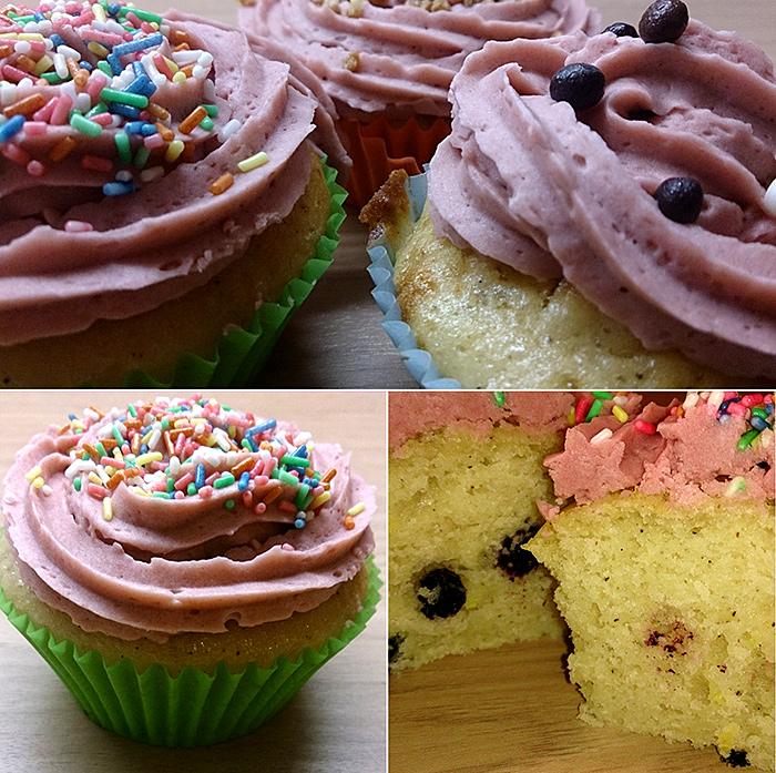 Aronia Zitronen Cupcake