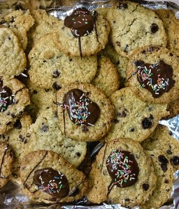 Schoko-Hafer Cookies mit Aronia