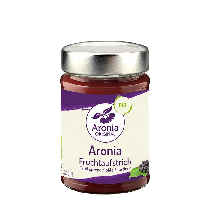 Packshot: Aronia Fruchtaufstrich 200g Glas