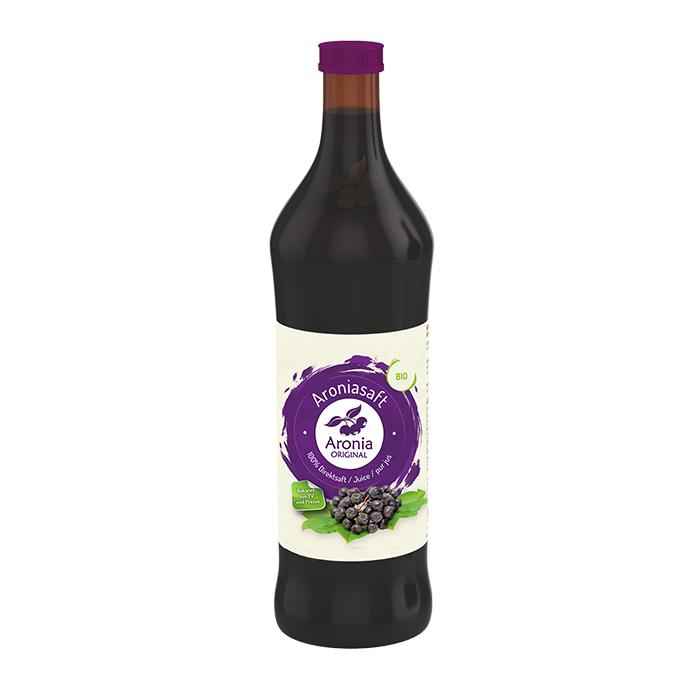 Packshot: Bio Aroniasaft 0,7 l Flasche