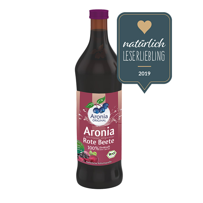 Packshot: Aronia+Rote Beete Direktsaft Bio 0,7 l