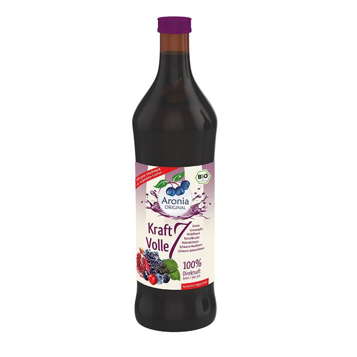 Packshot: Bio Aronia Kraftvolle 7 0,7 l Flasche