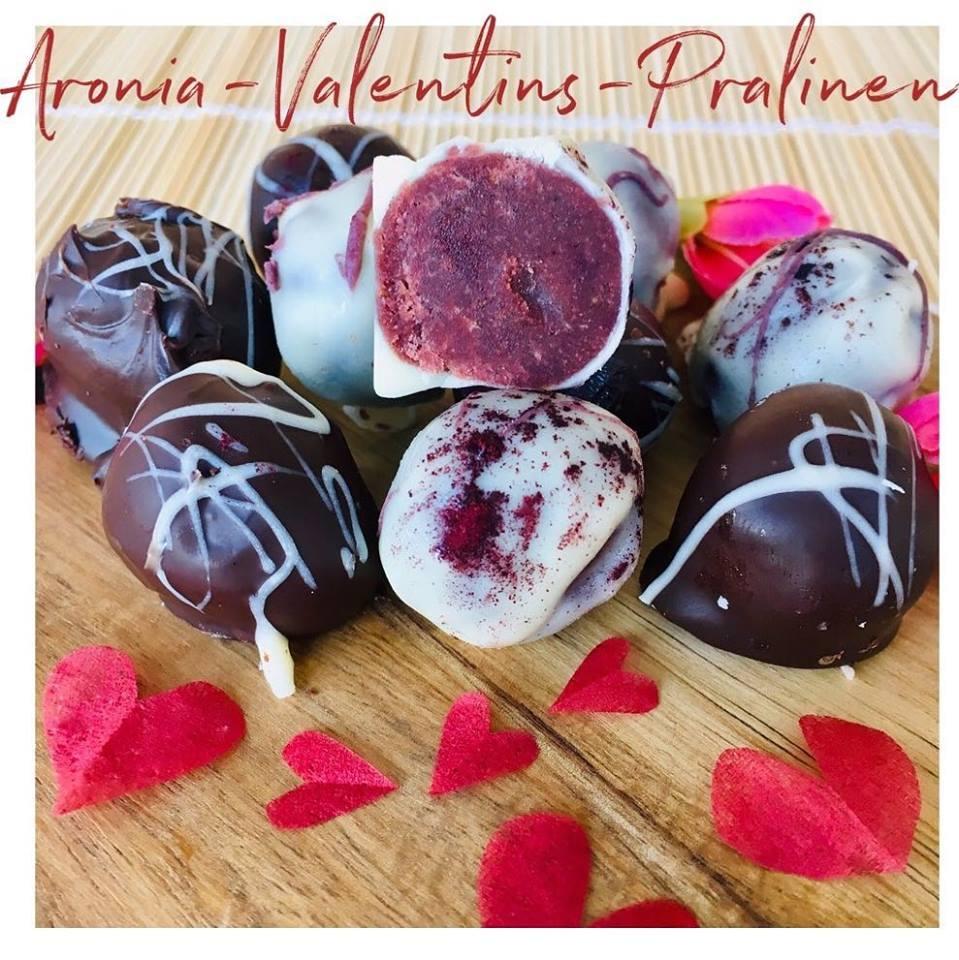 Aronia Pralinen zum Valentinstag