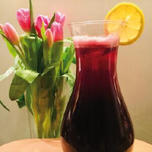 Rezept-Eistee mit Aronia + Granatapfel